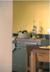 elija colores de pintura para paredes de cocina de la carta de colores de la gama Balance de Tollens