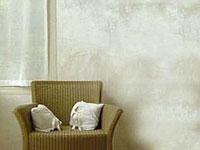 La peinture à la chaux pour décoration murs intérieurs y compris dans la salle de bain et la cuisine, effet patiné et velouté ou une finition sablée si elle est mélangée à du sable fin.