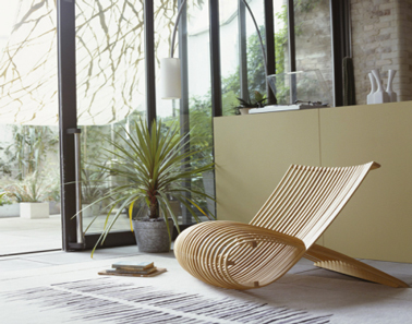 couleur salon ambiance outdoor entre couleur lin,taupe, vert tendre et bois naturel. Photo Peinture Astral