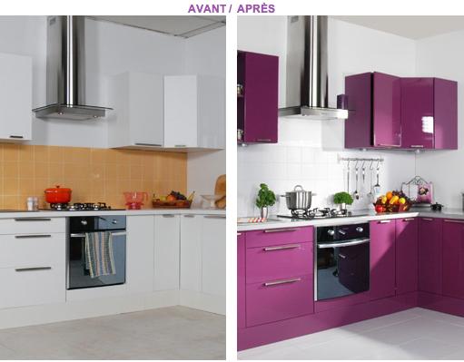 Pour repeindre des meubles de cuisine et rénover la pièce en cuisine moderne, nos conseils peinture meuble entre peinture application directe et résine et astuce relooking pour optimiser les rangements et l'éclairage