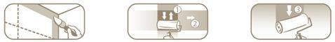 Repeindre un meuble en bois en 3 étapes : Commencez par peindre les angles et baguettes au pinceau, puis appliquez un 1er passage de peinture au rouleau en croisant les passes puis terminez par un passage du rouleau de haut en bas du meuble