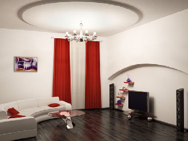 Une rénovation réussie d'un parquet ancien dans le salon avec peinture pour sol couleur wengé. Cette peinture s'applique sur sol bois en deux couches afin d'obtenir une brillance et une tenue extrême.