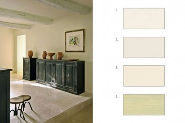 Pour la décoration du salon salle à manger une belle harmonie de blanc cassé qui joue les nuances tout en subtilité