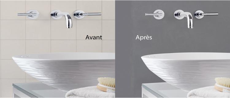 La peinture Masqu'Carrelage de Maison Déco est conçue pour cacher les joints du carrelage lors d'une rénovation de cuisine ou de salle de bain. Elle forme une couche de 3 à 5 ml qui transforme le carrelage en une surface lisse protégée par un vernis étanche.