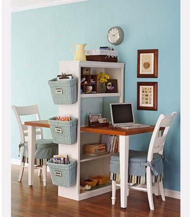Un bureau à fabriquer pour que chaque enfant ait son espace de travail dans la chambre