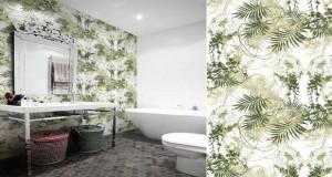 Un papier peint salle de bain qui se pose sur les murs de douche et les murs exposés à l'eau spa, douche italienne. Le papier peint OUT Wall&deco et sélection de papier peint vinyle intissé et expansé pour salle et bain