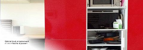Relooker ses meubles de cuisine avec des stickers adhésif pour meuble de cuisine Ikéa et sur mesures