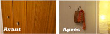 peindre portes et placard en bois, métal, aluminium verre ou miroir sans poncer ni décaper peinture placards & portes V33