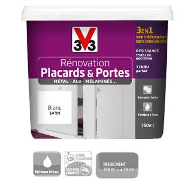 Peinture spéciale portes et placards. Pot de 750 ml, Prix : 34.90€ Peinture V33