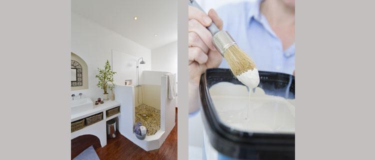 Peinture salle de bain étanche pour peindre douche et salle de bain sans carrelage HydroActiv de V33