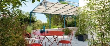Peinture fer extérieur de V33 pour salon de jardin, portail, structure en fer sur terrasse et tonnelle en application directe sur rouille dispensant du ponçage et de l'anti-rouille