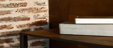 Peinture effet rouille de Maison déco. Peinture à effet pour peindre un meuble pouvant être appliquée sur les murs du salon par exemple