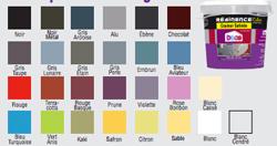 Nuancier 21 couleurs de peinture Résine Color pour carrelage mural de Résinence