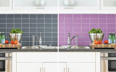 Peinture pour carrelage mural cuisine et salle bain, une crédence, des murs de douche, et toutes les surfaces carrelage mural