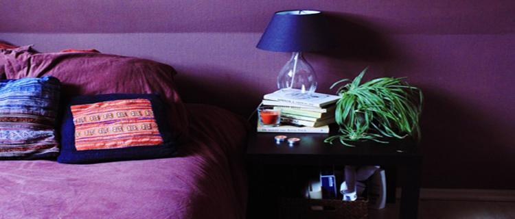 idée decoration chambre avec couleur violet