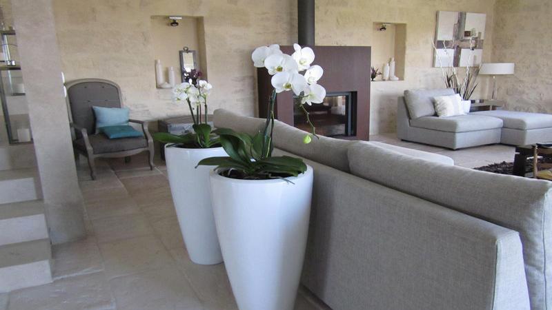 Découvrez nos idées déco et peinture salon avec la couleur lin à associer avec des meubles bois et matières naturelles pour créer une ambiance zen.