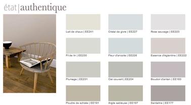 Nuancier peinture couleur lin et couleurs naturelles Collection Etat d'Esprit de Tollens