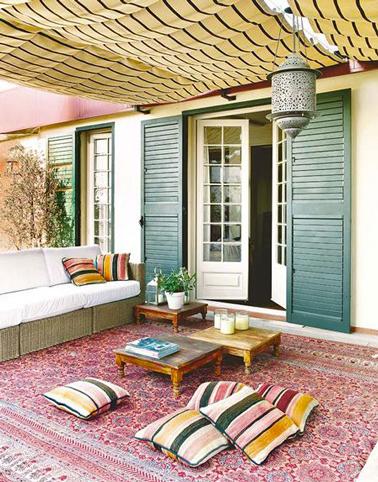 Une déco de terrasse pour se sentir en voyage au Maroc