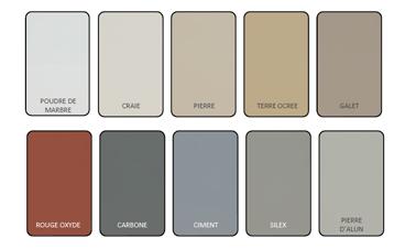 Nuancier de la peinture pour sol Expert V33 10 couleurs  dont 5 teintes de gris et un rouge
