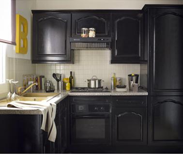 Peinture pour meuble cuisine GripActiv V33, une peinture meuble bois verni ou ciré pour meuble cuisine stratifié couleur noir Hirondelle chez Leroy Merlin