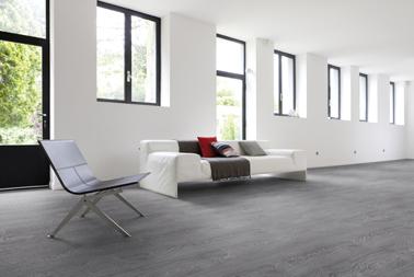 sol vinyl stratifié à lame clipsables TopSilence décor bois Largo Clear Dimensions des lames : 129cm x 19cm Gerflor