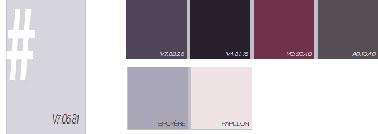 Un nuancier peinture plein de rafraîchissant. Du simple violet aubergine au parme, ces couleurs associées à des teintes claires comme du beige ou du gris clair vont apporter à la pièce de l'élégance. Avec des couleurs sombres en revanche, ce sera un style plus baroque. A vous de choisir la combinaison de couleurs déco que vous souhaitez !