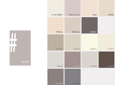 Effet naturel et serein avec ce nuancier couleur lin.  Du beige au taupe clair, cette palette propose une multitude d'associations toute plus élégantes les unes que les autres. Pour une ambiance épurée, misez sur une combinaison de lin et de toile de jute par exemple. Par ailleurs, pour une atmosphère plus affirmée n'hésitez pas à utiliser une peinture taupe foncé en duo avec une couleur plus claire de ce nuancier. Effet confort assuré !