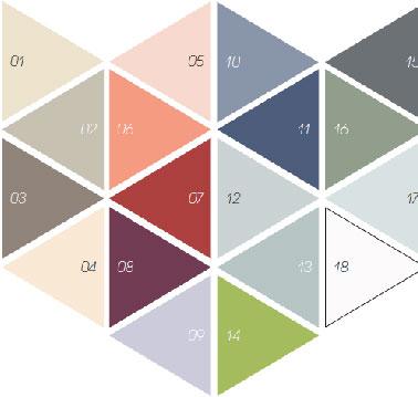 Une peinture Mat et lessivable c'est ce qu'offre la gamme peinture DécoLab V33 disponible en 18 couleurs pour repeindre murs et boiserie dans salon, chambre enfant, couloir et entrée. parmi les couleurs, tendance, bleu indigo, beige rosé, Humus une teinte de taupe clair, gris Galet et beige