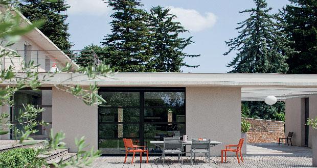 V33 innove avec une peinture extérieur direct tous matériaux. Elle est à la fois une peinture pour bois extérieur, pour portail ou volet en fer, cadre fenêtre PVC.. sans sous-couche