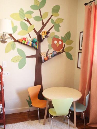 Très ludique et rigolo, de jolis stickers à coller sur les murs pour la déco de la salle de jeux des enfants