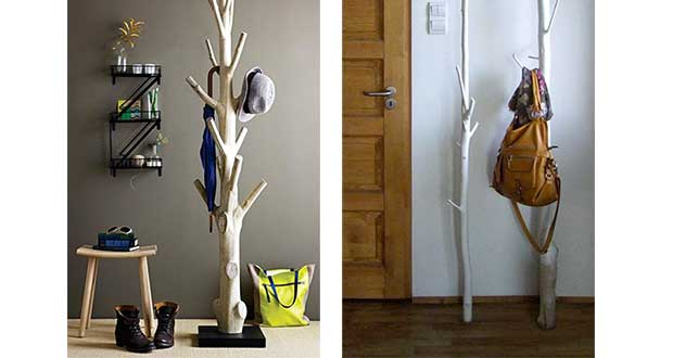 Offrez-vous un porte manteaux pratique et original grâce à ce DIY ultra sympa ! Une idée déco récup 100% nature avec ce porte manteau arbre à mettre dans l'entrée pour un effet unique