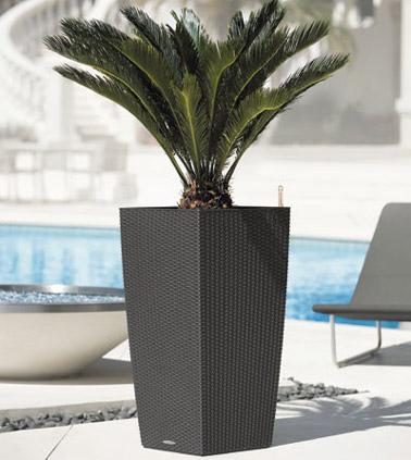 Fonctionnel et design, ce pot en résine de couleur naturelle saura faire votre bonheur et embellir votre déco que ce soit sur la terrasse ou dans le jardin !