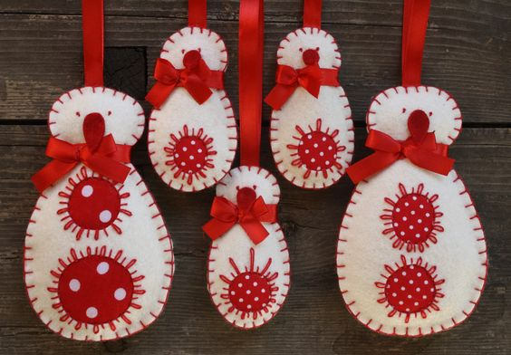 Découvrez comment réaliser simplement des décorations de Noël comme ces bonhommes de neige dans notre article.