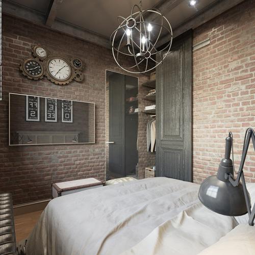 Dormitorio estilo steampunk